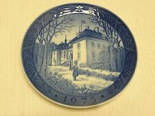 1975 Royal Copenhagen Christmas Plate The Queens Christmas Residence