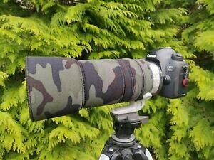 Canon 100 400mm f4.5 5.6L IS II Neoprene Camo lens cover  Premium fabrics