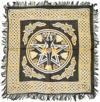 Altar Cloth 18x18 inch: New Pentacle with Goddess | Pagan | Witch | Goth
