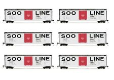 Rivarossi SOO Line Plug Door Box Car HO Scale Train Car - Set Of 6 Cars