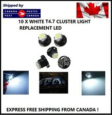 10x T5 T4.7 5050 1SMD White LED Bulbs Dashboard Cluster Gauge Side Light DC12V