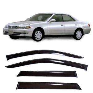 For Toyota Mark II X100 1996-2000 Side Window Visors Rain Guard Vent Deflectors