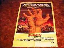 PHASE IV MOVIE POSTER HORROR '74 ANTS GREAT GRAPHICS