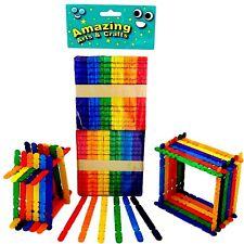 Building Lolly Lollipop Craft Sticks Assorted Colours 100pcs Amazing Arts Crafts