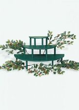 Authentic Byers Choice Accessory Display Riser Kit Dark Green Risers Holly/Berry
