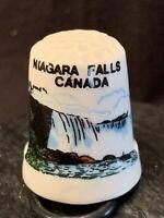 Thimble Niagara Falls Canada Porcelain Sewing Travel Collectible Vintage