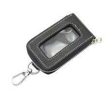 Universal Car Smart Key Case Remote Fob Case Leather Holder Cover Bag Black New