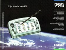 Publicité Advertising  2001  Nokia  7710  Pim internet lecteur MP3