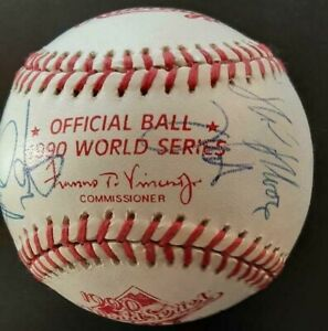 1990 WORLD SERIES  BALL WITH MULTIPLE AUTOGRAPHS