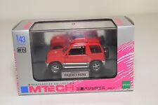 II 1:43 MTECH MM-02-A MITSUBISHI PAJERO MINI RED GREY MINT BOXED