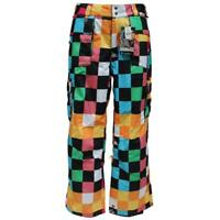 Quiksilver Hysteria Mens Size XL Blue Multi Coloured Bright Ski Snow Board Pants