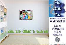 DISNEY Princess Wall Sticker bambini Camera da Letto 3D effetto finestra.