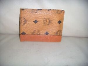 NEW  Vintage MCM Bifold Leather / Canvas Wallet - WEST GERMANY