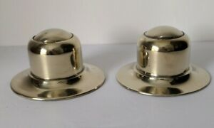Antique Silver Plated Ship's Capstan Inkwell Set With Ink Pots English Make