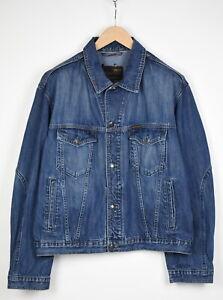 MCS MARLBORO CLASSICS Men's ~X LARGE Blue Fade Effect Denim Jacket 37733_GS