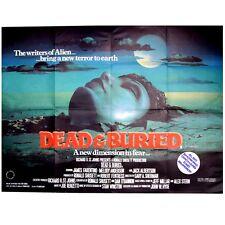 Dead & Buried Original UK Cinema Quad Size Horror Film Movie Poster