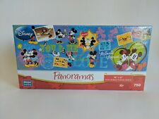 "NEW - Disney Panoramas Mega Puzzle - 750 Pieces - Mickey & Minnie - 36""x12"""