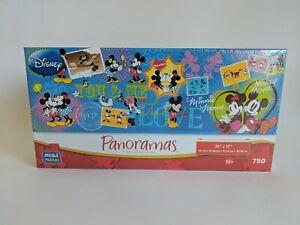 """NEW - Disney Panoramas Mega Puzzle - 750 Pieces - Mickey & Minnie - 36""""x12"""""""