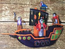 New 9.12 Ft Animated Airblown Pirate Ship Inflatable Haunted Halloween Skeleton