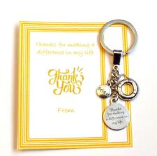 Thank you for making a difference in my life Key Ring Gift Show Appreciation