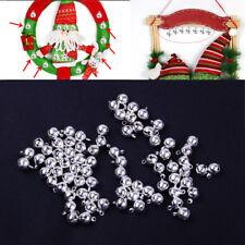 100X Glöckchen Schellen 8mm Kupfer Glocken Silber Weihnachten Deko Bell Ornament