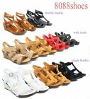Women's Cute Strappy  Open Toe Low Wedge Platform Sandal Shoes Size 5 - 10 NEW