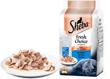 Sheba Fresh Choice Fish Collection in Gravy 6 x 50g pouch