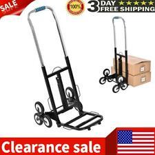 Folding Trolley Adjustable Portable Six-wheel Hand Truck Stair Climbing Cart US