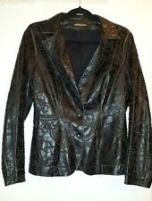 So Gorgeous FULOP Black Leather  Jacket Sz 8 made in Italy