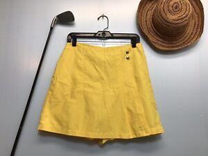 Izod X-tra Dry Yellow Skirt Skort Women's 6 - Golf