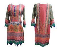 PLUS SIZE- Women Indian Kurti Pakistani Kurta Cotton Digital Print Tunic Top