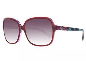 GUESS GU 7382 66F Purple Print Brown Gradient Print Women Sunglasses Authentic