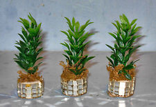 3 PIECES PHILODENDRON PLANT MIRROR BASE SUPER SPECIAL  DOLLHOUSE FURNITURE