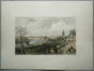 1837 Bartlett print SCOTLAND: DUMFRIES, DUMFRIESSHIRE (#37)