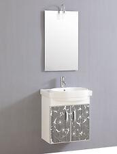 Design Waschtisch Gäste WC Mit Armatur Spiegel Und Beleuchtung Sofort