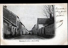 MENNECY (91) ATTELAGE aux COMMERCES & VILLAS , Rue de MILLY en 1903