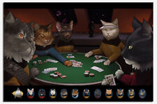Laminated Star Trek Cats Playing Poker Official Poster New