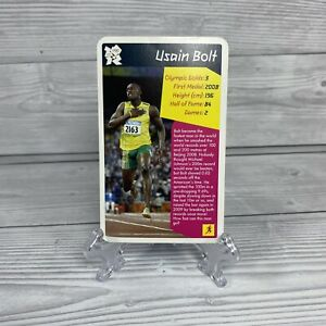 Usain Bolt 2012 Olympic Top Trump Card Very Rare PSA Potential - Excellent Cond