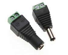 1pair Male+Female Plug 12V DC Power Jack Connector Cable Adapter CCTV Camera X