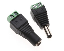1pair Male+Female Plug 12V DC Power Jack Connector Cable Adapter CCTV Camera PL