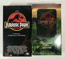 Jurassic Park & The Lost World (VHS Lot of 2) Dinosaurs Sci-Fi Brand New Sealed