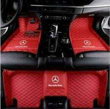 For Mercedes-Benz 2004-2020  Waterproof Front & Rear Car Floor Mats  Red