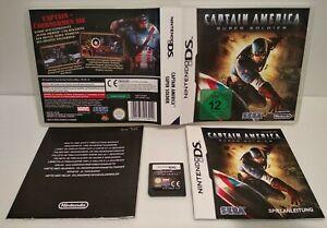 Captain America Super Soldat - Jeu Nintendo DS Européen -Complet -Très bon état