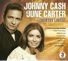JOHNNY CASH & JUNE CARTER COUNTRY LOVERS 3 CD BOX SET - I WALK THE LINE & MORE