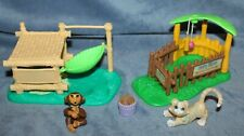 Vintage Kenner Littlest Pet Shop Zoo Nursery Baby Chimp Monkey Tiger Playset
