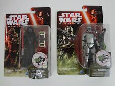 STAR WARS THE FORCE AWAKENS 3.75 KYLO REN & CAPTAIN PHASMA ACTION FIGURES