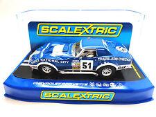 "Scalextric ""First National"" Chevrolet Corvette L88 W/ Lights 1/32 Slot Car C3654"