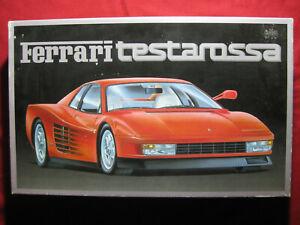 BIG 1985 Ferrari Testarossa 1:16 Scale Fujimi Motorized Plastic Kit Vintage Rare