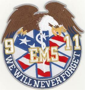 """91101 EMS We Will Never Forget Patch (5"""")"""