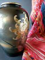 Old Japanese Enameled Metal Vase …beautiful Collection and accent piece